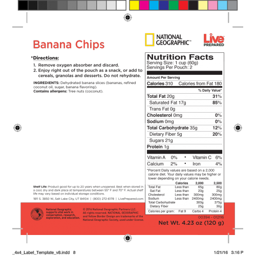 Label Product Banana Chips